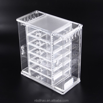 Acrylic Jewelry Organizer With 5 Drawer2 Hanging SideStorage Your