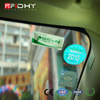 RFIDHY EPC GEN2 vehicle tag with Alien H3 chip made by ABS material with glue can stick on plate number