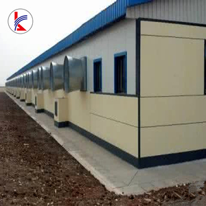 Q345B high strength galvanized steel structure frame/ poultry broiler house from Guangdong