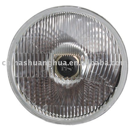 Halogen semi sealed beam