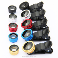 2016 Newest Wholesale 3 In 1 Set Clip Lens Wide Angle Macro Fisheye for mobile phone
