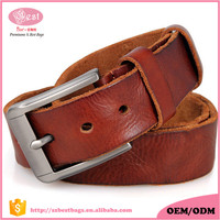 Handmande Drop Shipping Vegetable Tanned Full Leather Men Belt Western Cowboy Casual Pin Buckle Leather Belts for Men