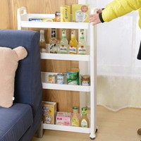 4-tier Plastic cracks Storage Rack With Wheels