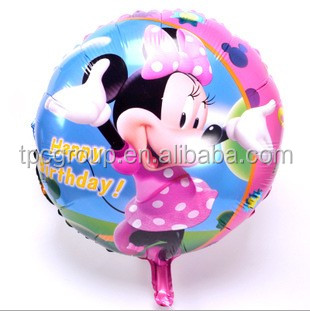 Wholesale Printable Helium Round Minnie Mylar Balloon Buy Perfectly Round Balloons Custom Mylar Balloons Cheap Inflatable Advertising Balloons
