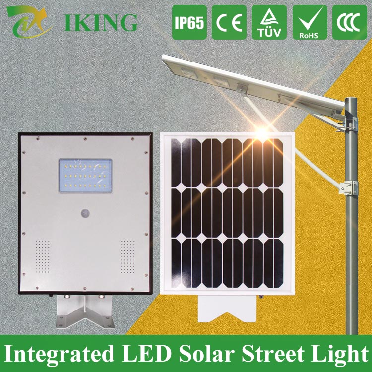 IP65 Rated 8W LED Integrated All in one Solar Street LED Light LED Solar Light