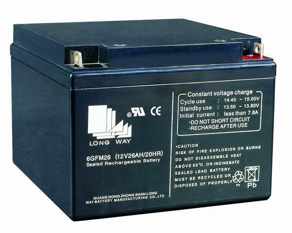 Sealed Lead Acid Battery 12v26ah 6fm26g