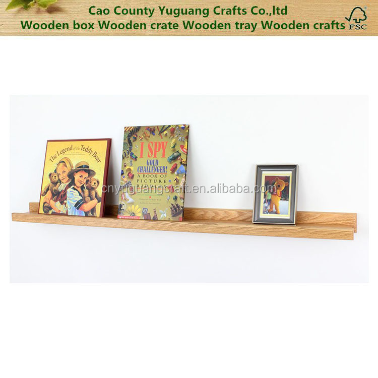 Picture Ledge Wooden Wall mounted Photo Frame Shelf Book Display