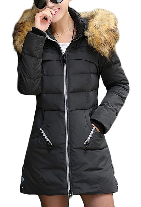 desolateness Men Winter Snow Puffer Fur Hooded Thicken Padded Warm Down Jacket