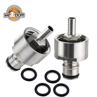 "Stainless Steel 304 Carbonation Cap with 5/16"" Barb Ball Lock Type, Fit Most Soft Drink PET Bottles"