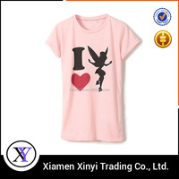 Cheapest Custom 100 % combed Cotton printing fashion t shirts for women