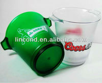 Semi-transparent Plastic Colorful Ice Bucket For Promotion