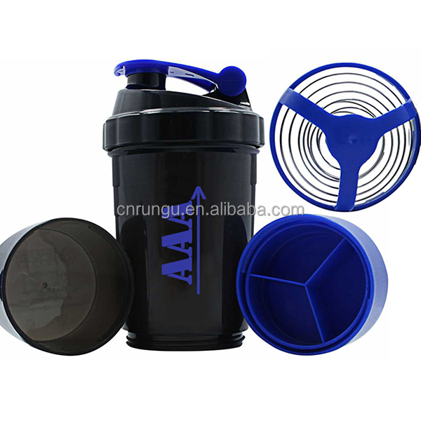 Custom Logo Shaker Bottle for Protein Powder Mixing