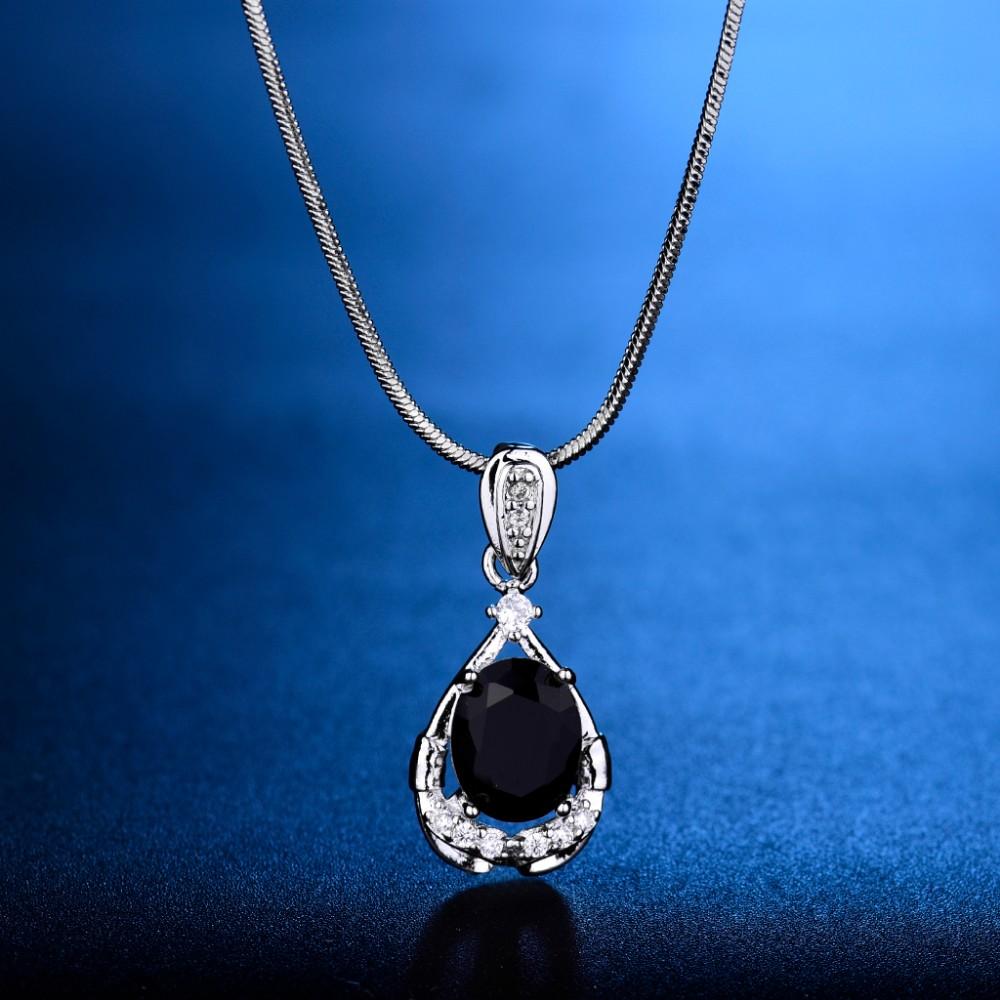 dcb924092c70 Compre F Colgante GULICX Moda Mujer Colgantes De Cristal De Piedra ...