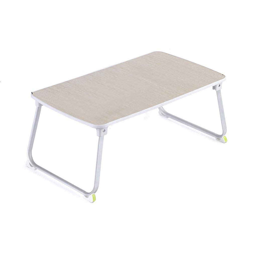 GAOYANG Laptop Bed Tray Table, Adjustable Laptop Bed Stand, Portable Standing Table with Foldable Legs, Foldable Lap Tablet Table for Sofa Couch Floor (Color : Natural, Size : 703637.5cm)