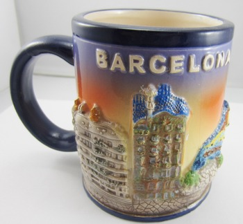 5562 barcelona mugs souvenir porcelain beer mugs customized designe