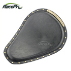 Brass Rivets Synthetic Motorcycle Leather Front Solo Spring Seat for Harley Chopper Bobber Sportster Custom