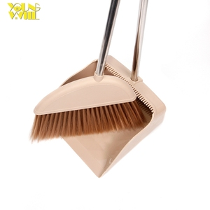 Home floor cleaning plastic broom with dust pan set