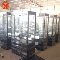 Hot sale lockable display cabinet with glass, display cabinet showcase
