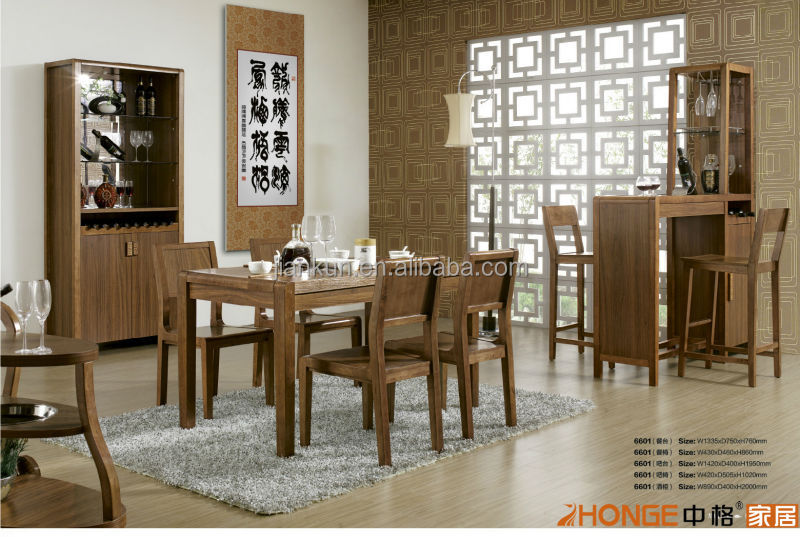 Natural Simple Living Room Showcase Design Dining Table Set