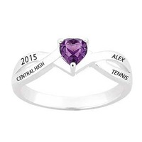 jewelry silver women graduation college ring with custom names