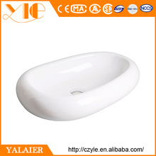 Sanitary above counter ceramic wash hotel popular oval art basin