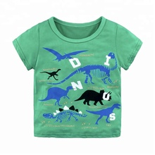 Kids summer fashion short sleeve v neck cotton blank color t shirt hot sale