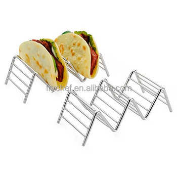 Langjie Taco Holder Rack, Taco Stand- Restaurant Style Server Rack, Each Stand Hold 2~3 Hard Shell Taco, 2 PCS In Pack