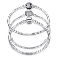 Kailefu Jewellery bracelet for pandora charms 925 sterling silver
