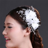 MYLOVE wholesale crystal flower bridal wedding hair accessories MLF079