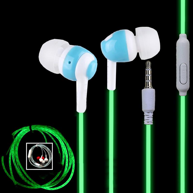 Hot Glow In The Dark Headphones Cool Led Earphone Luminous Neon Headset With Microphone Night Lighting