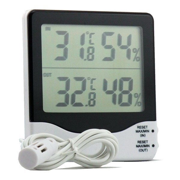 Greenhouse/Garden Two Temperature And Humidity Thermometer Hygrometer With <strong>Max</strong> Min