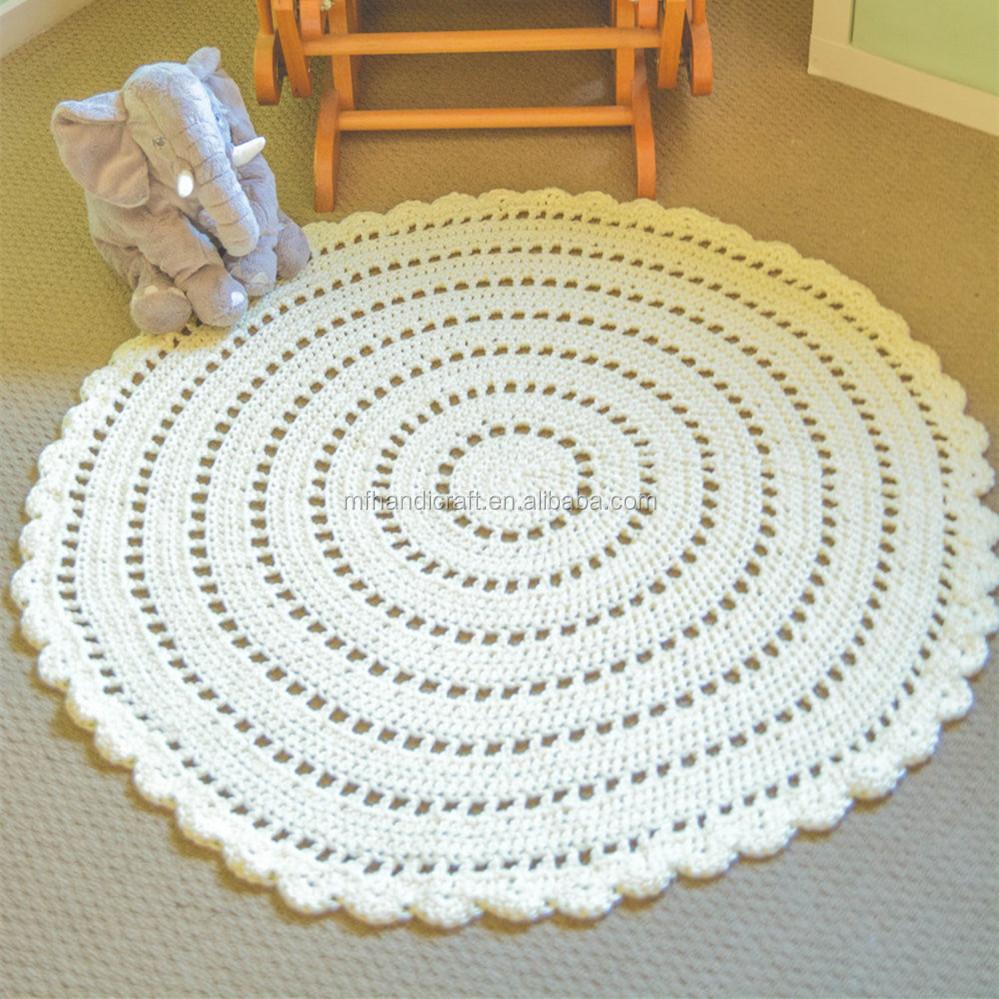 Encuentre El Mejor Fabricante De Tapetes Blancos De Crochet Y  -> Tapetes Para Sala Tejidos A Crochet