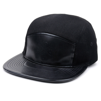 f0328df3f01 Custom Leather And Acrylic Snapback Hats 5 Panel Blank Caps Hats ...