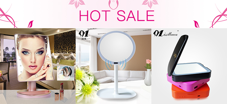 2017 New Magnifying Glass Hollywood Mirror Makeup Smart Led Mirror in China