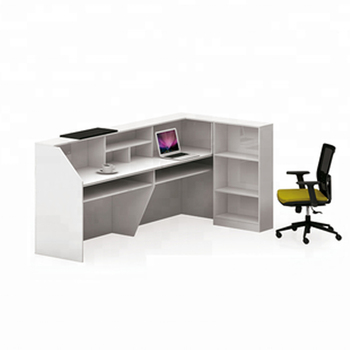 check out 4b2ab c4fee Office Front Desk Counter Reception Table White L Shaped Front Reception  Desk Modern - Buy L Shaped Reception Desk,White Reception Desk,Modern ...