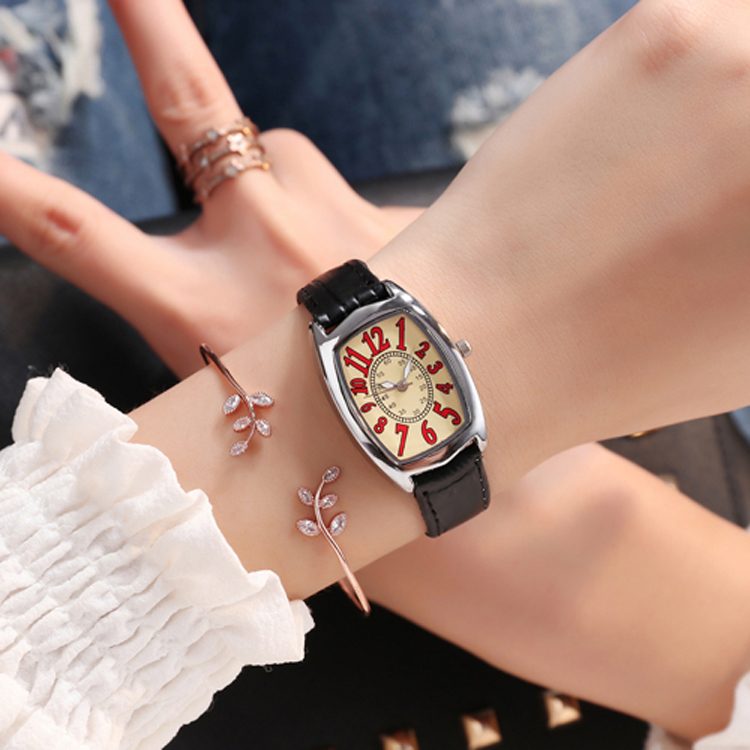 LE 356 Women Fashion Casual Simple Quartz Watch Hot Ladies Leather Good Quality Girl Clock Wholesale Low Price cheap watch