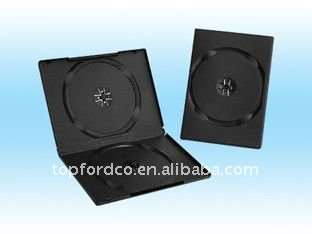 7mm long black double dvd case