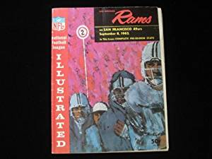 September 8, 1962 Los Angeles Rams vs. San Franciscio 49ers NFL Program