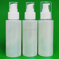 cosmetic 100ml shiny white cream lotions and perfume plastic container