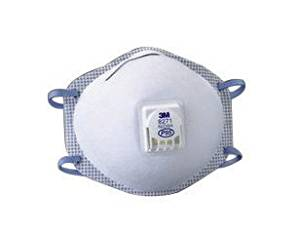 3M Standard P95 8271 Disposable Particulate Respirator With Cool Flow Exhalation Valve, Braided Headband And Adjustable M-Nose Clip - Meets NIOSH And OSHA Standards - 10 EA