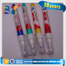 Chinese colored metal tip manufacturer of tube correction pen