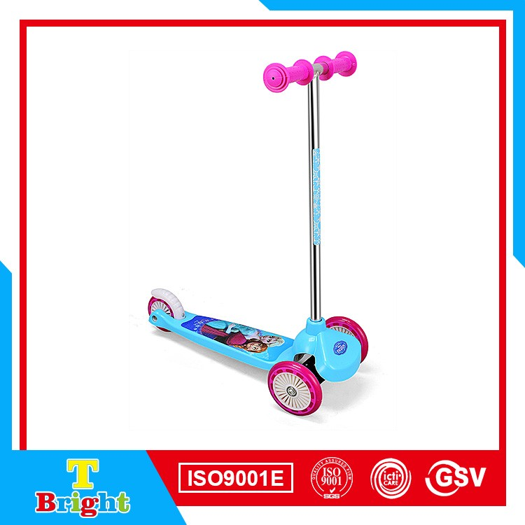 EN14619 Nylon front wheel 120mm mini 3 wheel scooter for child