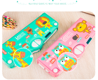 2019 new multifunction 3D Stereogram magnetic pencil box to school