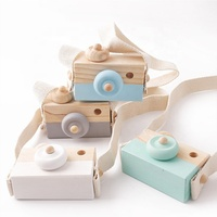 Custom Kaleidoscope Cute Wooden Camera Baby Kids Hanging kids camera toys