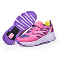 2016 New summer Breathable Kids Heelys Adults Roller Shoes Boys Girls Sneakers With Wheels Ultralight Skating