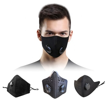 washable high quality custom printed material filter breathe face shield mask
