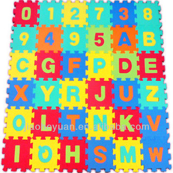 36 Pcs Alphabet Numbers Eva Floor Mat Baby Room Jigsaw Mat Soft