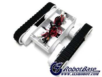 Land Rover5 Mobile Car Rubber Tracked Cruiser Chassis Robot Platform Kit (4 Motors with 4 Encoders)