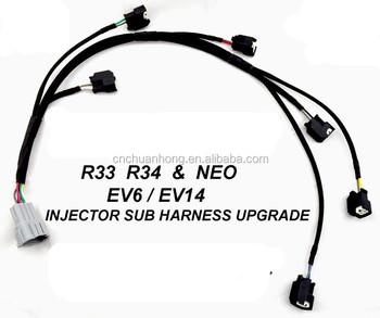 [DIAGRAM_38EU]  Rb25det Injector Sub Harness Loom Upgrade Skyline R33 R34 Gtt Ev6 Ev14 Injectors  Wire Harness - Buy Jectors Wire Harness,Ev6 Wire Harness Gts-t,Wiring  Harness Ev14 Product on Alibaba.com | Injectors Wiring Harness |  | Alibaba.com