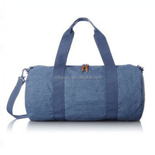 Fuyuan usine ISO cylindre personnalisé <span class=keywords><strong>denim</strong></span> <span class=keywords><strong>sac</strong></span> polochon <span class=keywords><strong>sac</strong></span> de <span class=keywords><strong>voyage</strong></span>